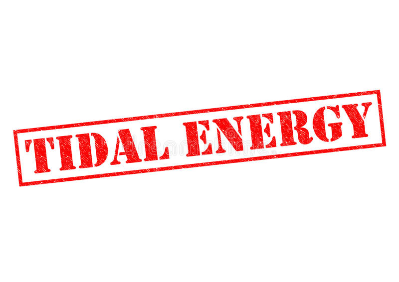 TIDAL ENERGY. Red Rubber Stamp over a white background royalty free stock image