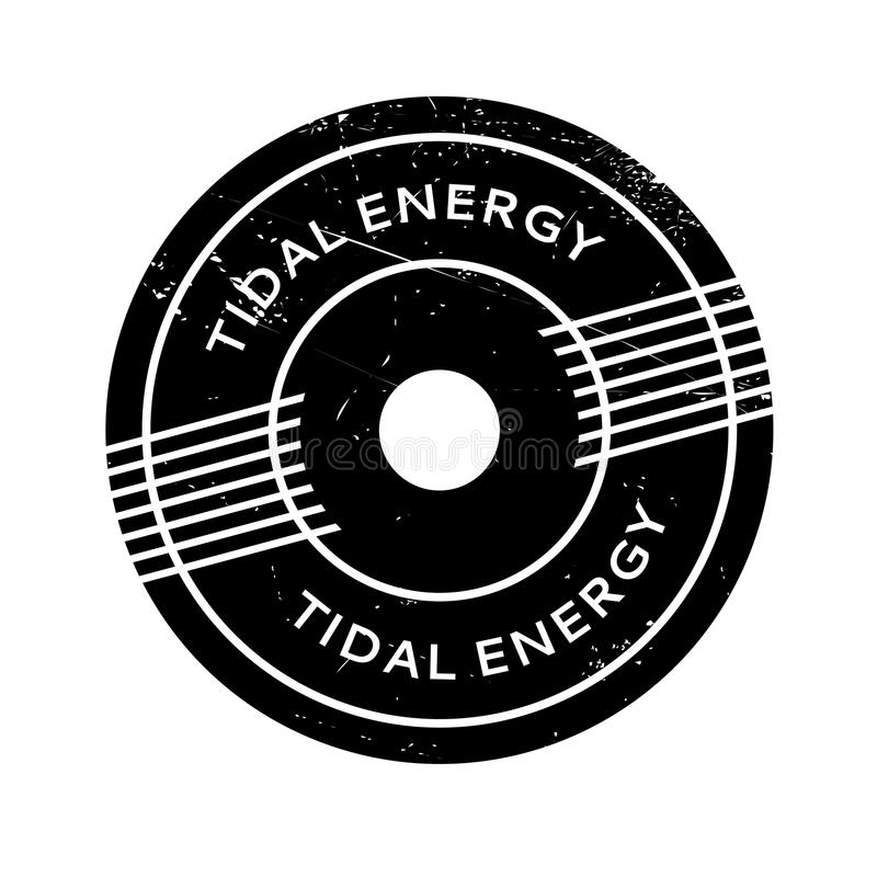 Tidal Energy rubber stamp. Grunge design with dust scratches. Effects can be easily removed for a clean, crisp look. Color is easily changed stock illustration