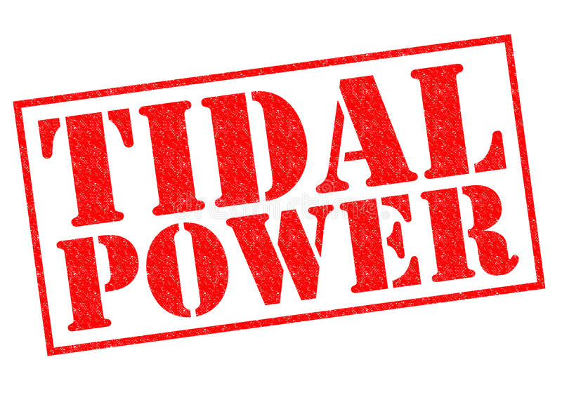 TIDAL POWER. Red Rubber Stamp over a white background stock image