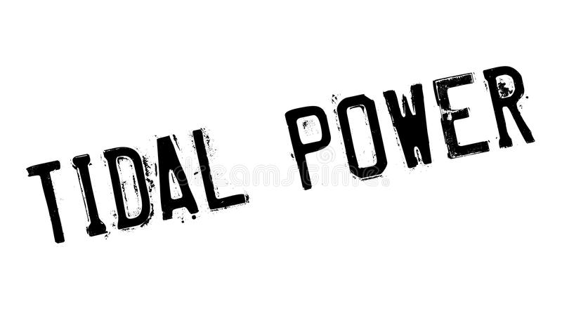 Tidal Power rubber stamp. Grunge design with dust scratches. Effects can be easily removed for a clean, crisp look. Color is easily changed stock illustration