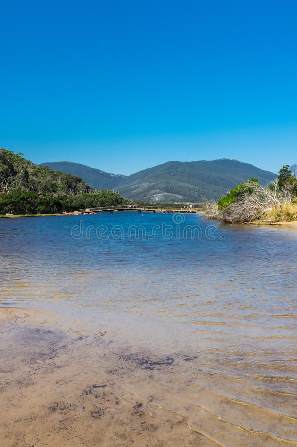 Tidal River in the southern section of Wilsons Promontory National Park in Gippsland, Australia. stock photos