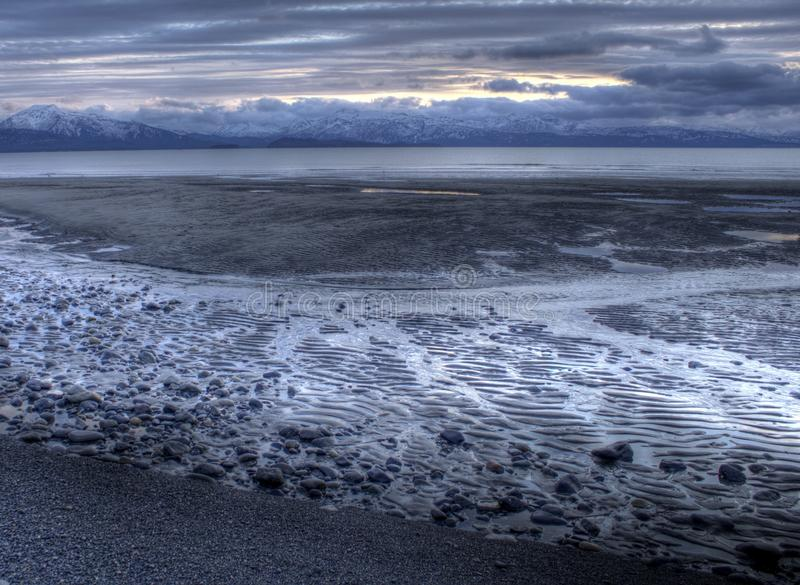 Download Tidal Water Flowing At Sunset Stock Photo - Image: 22436246