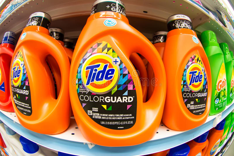 Tide Color Guard Laundry Detergent royalty free stock images