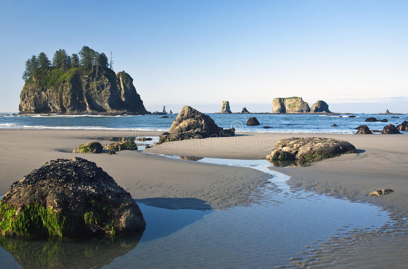 Tide Flow At Second Beach royalty free stock photos