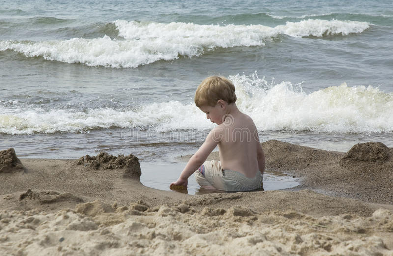 Download Tide pool play time stock photo. Image of beach, indiana - 23452938