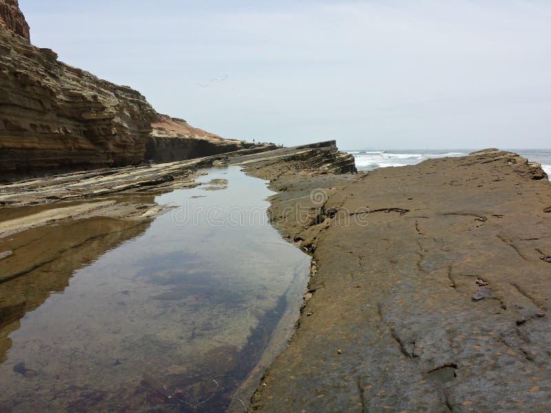 Tide pool rocks erosion royalty free stock photo
