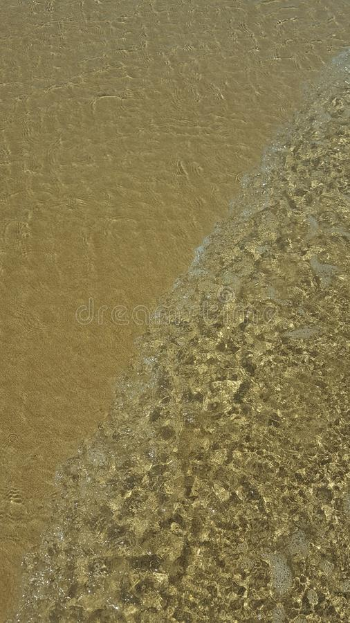 Beach tide royalty free stock photography