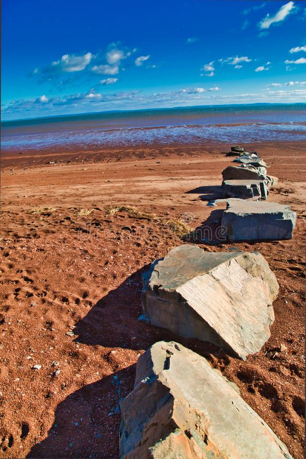 The tides gone out, Bay of Fundy royalty free stock images