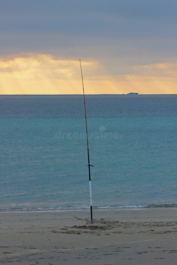 tidig fiskemorgon arkivbild