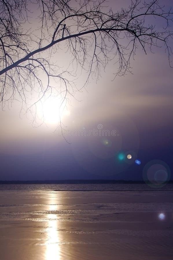 tidig lakemorgon fotografering för bildbyråer