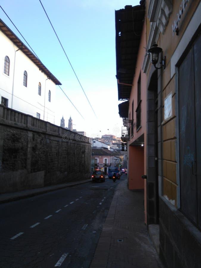 Tidig Quito arkivbild