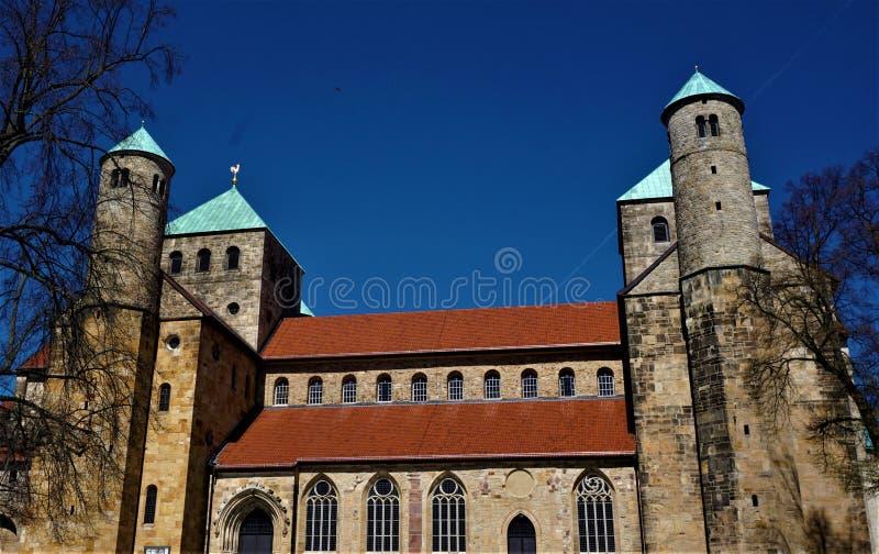Tidig-romanska Stets Michael kyrka i Hildesheim arkivfoton