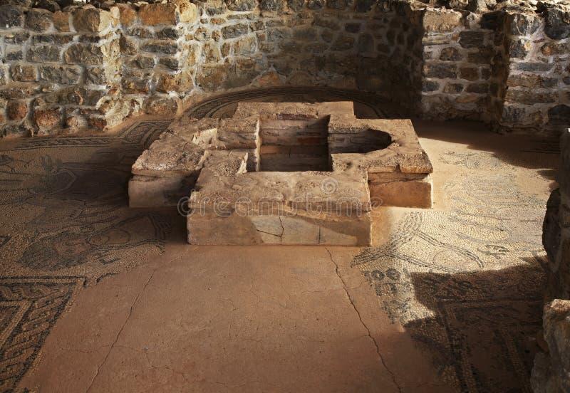 Tidiga Christian Basilica i Ohrid macedonia arkivbild