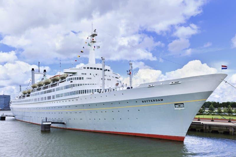 Tidigare Cruiseship 'Rotterdam', royaltyfria bilder