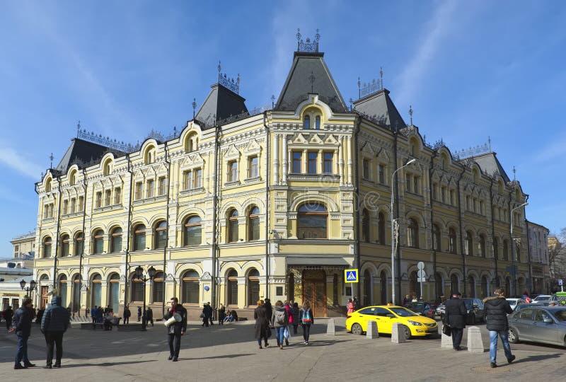 Tidigare lönande hus som byggs för att beställa, köpmän-Maecenas Tretyakovs royaltyfri fotografi