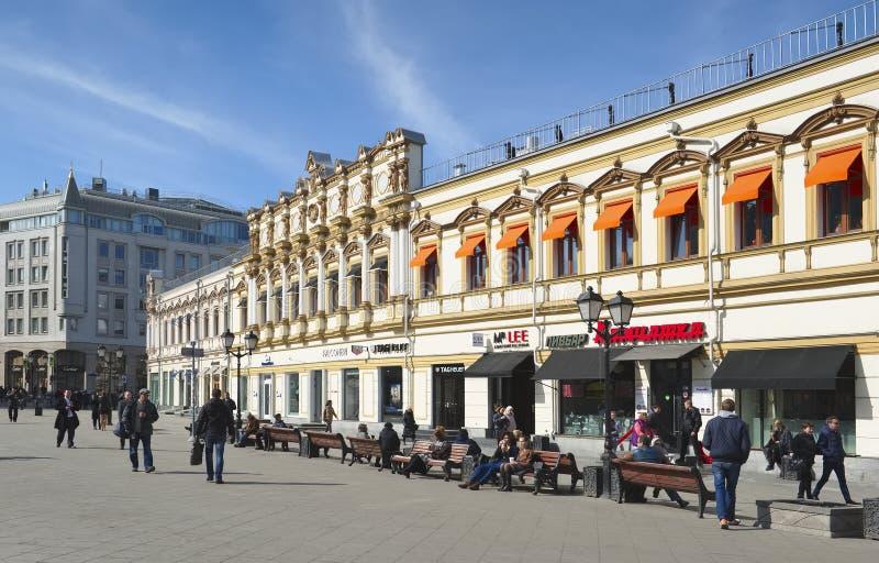 Tidigare lönande hus Vorontsova - Evdokimov - Shorina arkivbilder