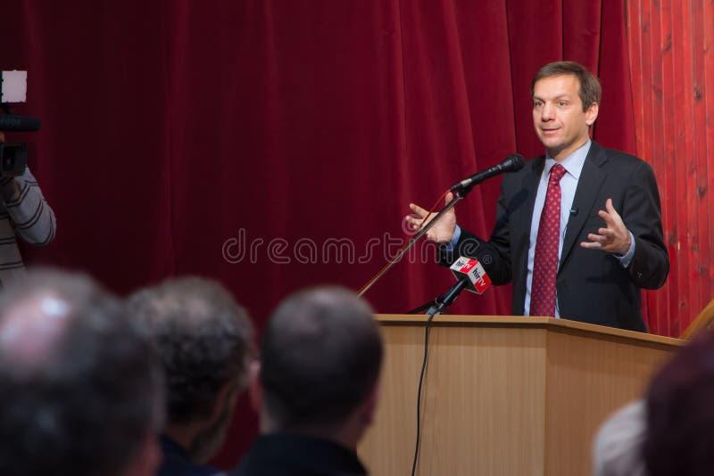 Tidigare premiärminister av Ungern, herr Gordon Bajnai arkivbild