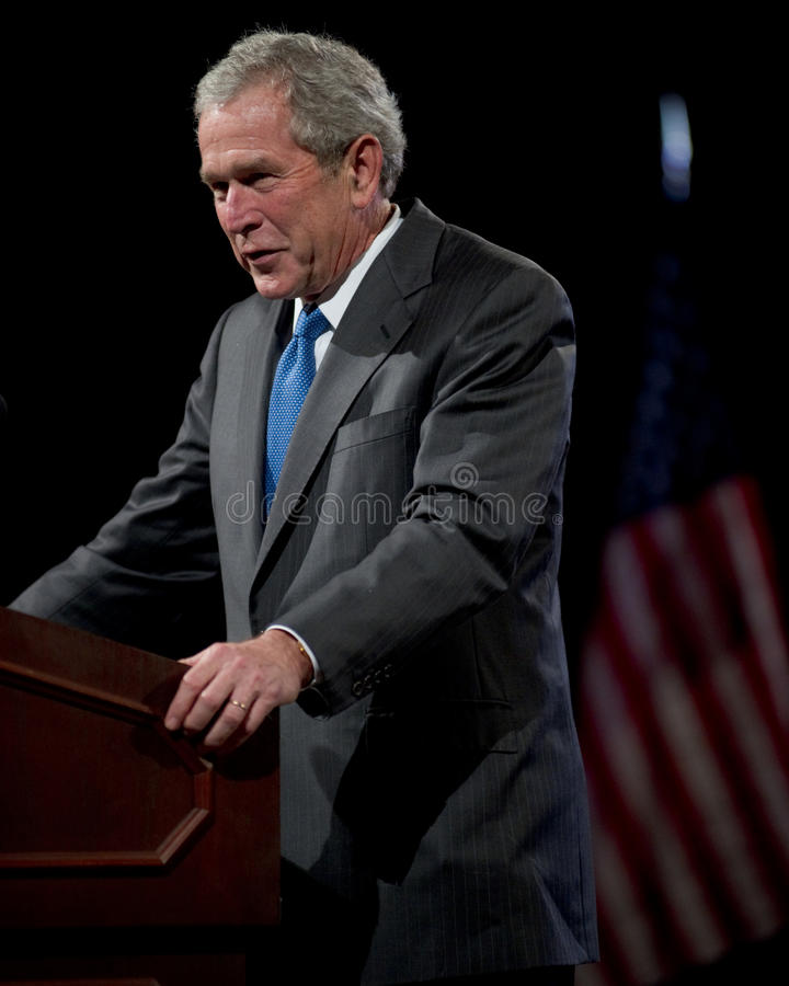 Tidigare president George W. Bush arkivfoton