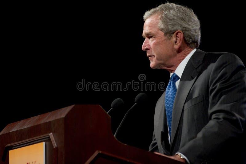 Tidigare president George W. Bush arkivbilder