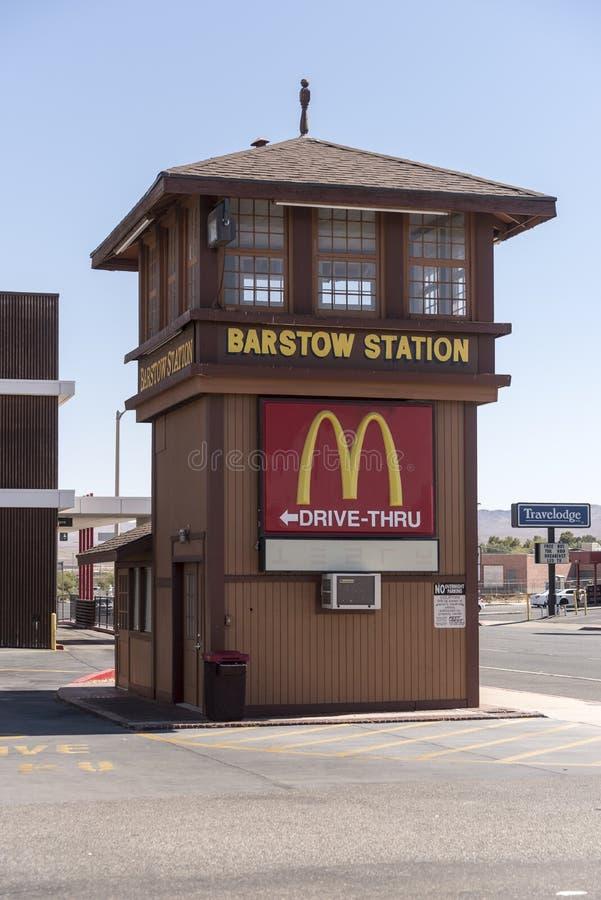 Tidigare signalask på den Barstow stationen Barstow Kalifornien arkivbilder