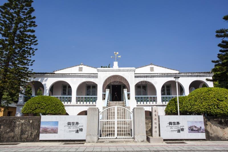 Tidigare Tait & för Co handels- hus i Anping, Tainan, Taiwan arkivbild