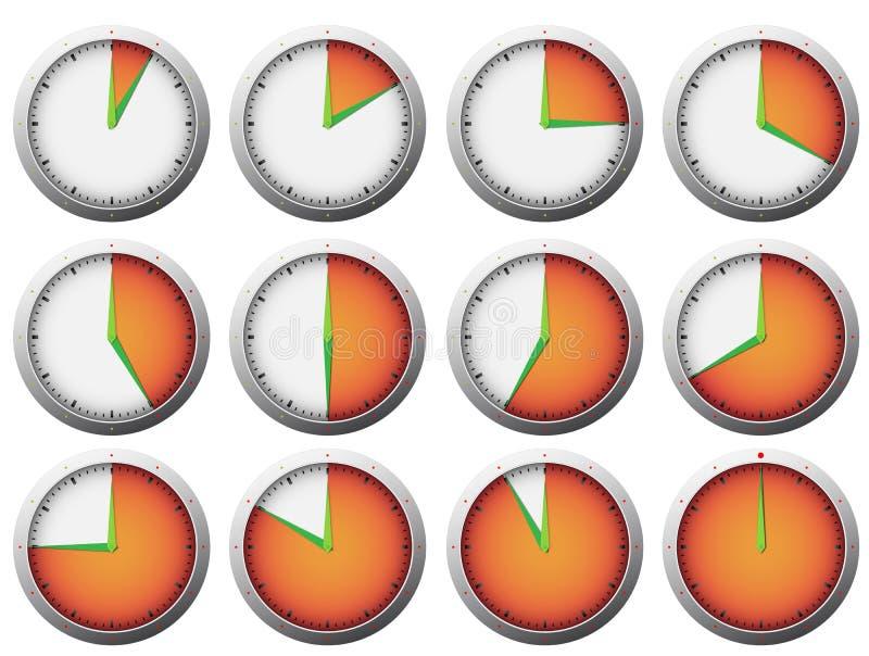 tidmätare stock illustrationer