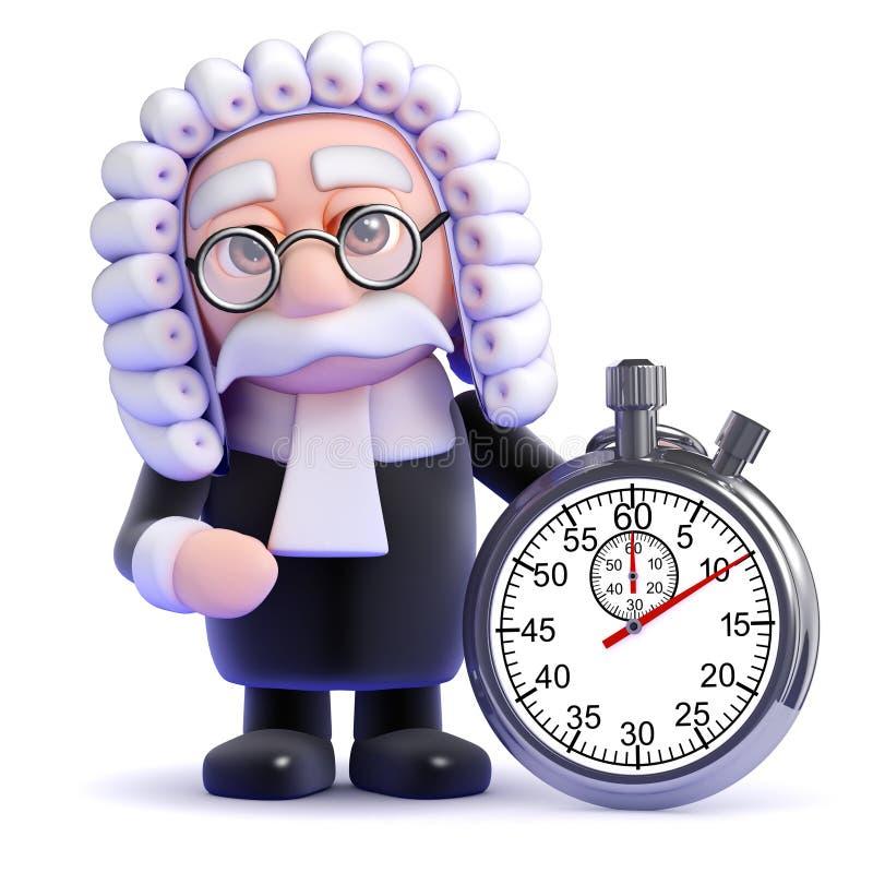 tidmätare för domare 3d royaltyfri illustrationer