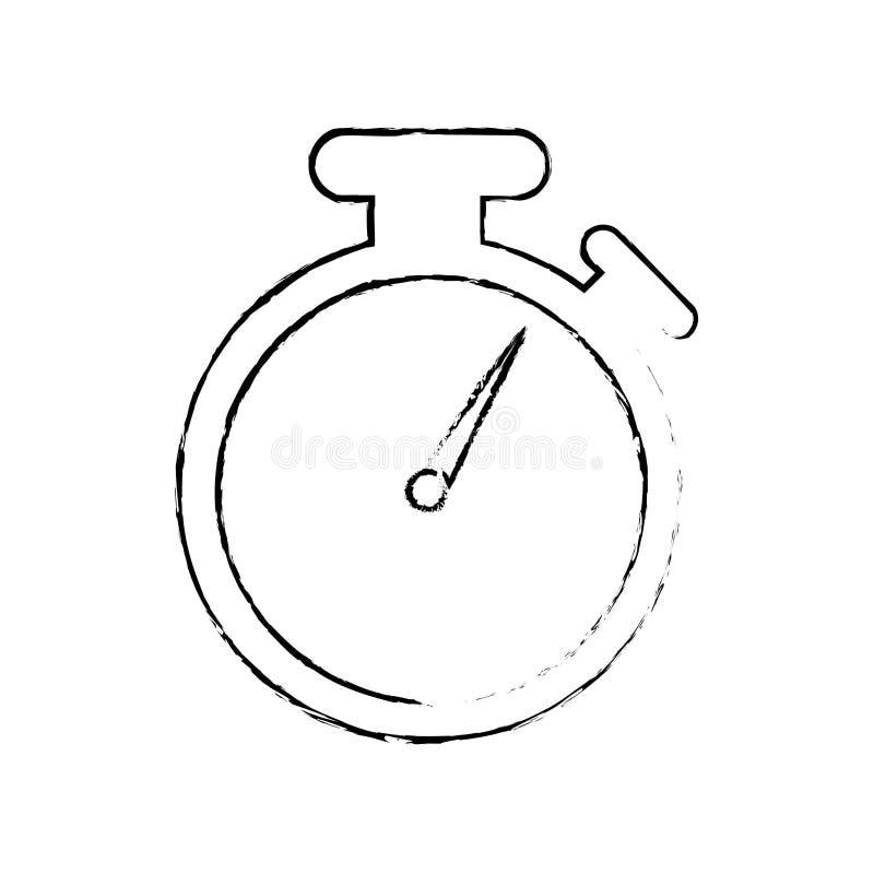 Tidmätareklockaklocka royaltyfri illustrationer