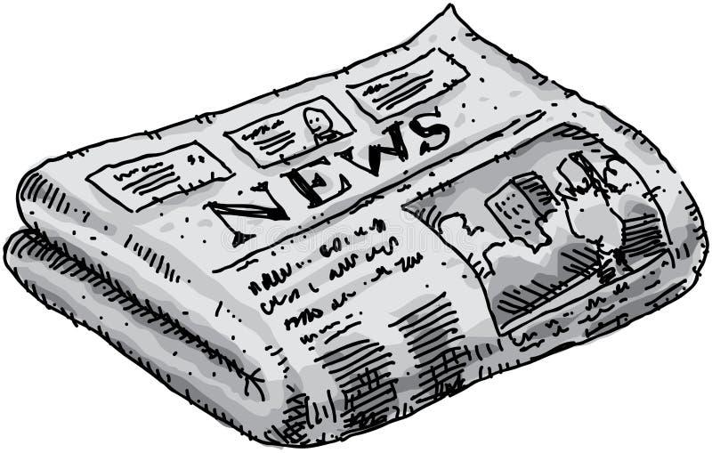 tidning royaltyfri illustrationer
