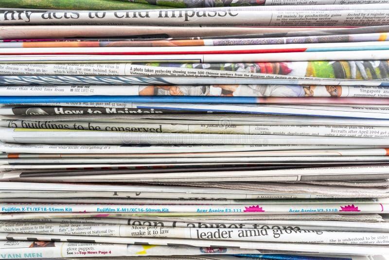 tidning royaltyfria foton