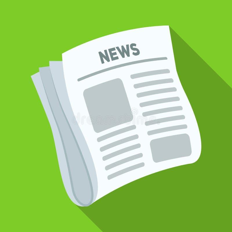 Tidning nyheterna Skyla över brister för räkningen av en kriminalare som utforskar fallet Detektiv- enkel symbol i plan stil royaltyfri illustrationer