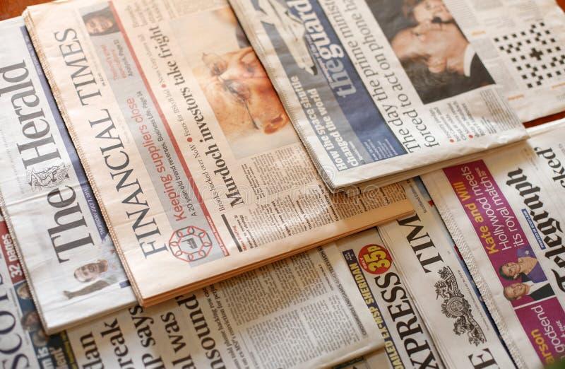 Tidningar arkivfoton