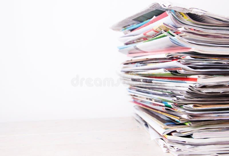 tidningar royaltyfri bild