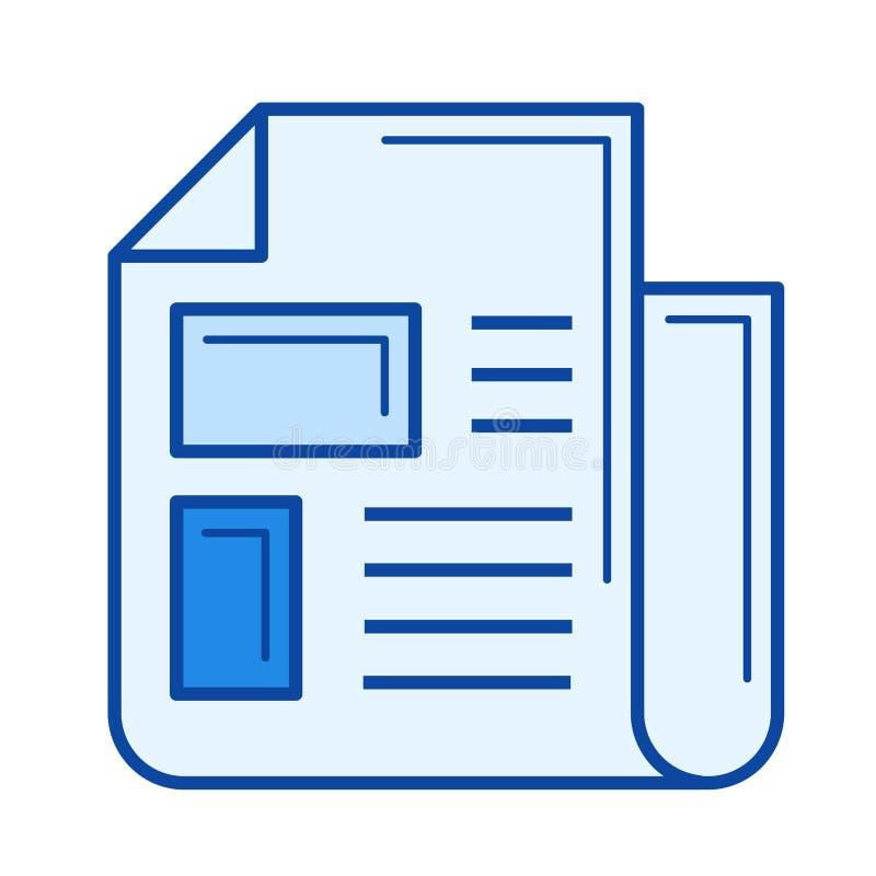Tidningslinje symbol vektor illustrationer