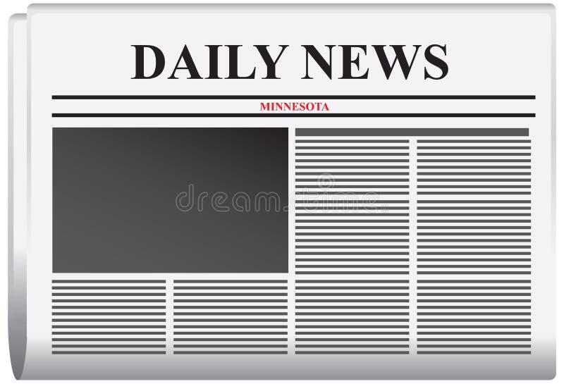 TidningsMinnesota daglig nyheterna royaltyfri illustrationer