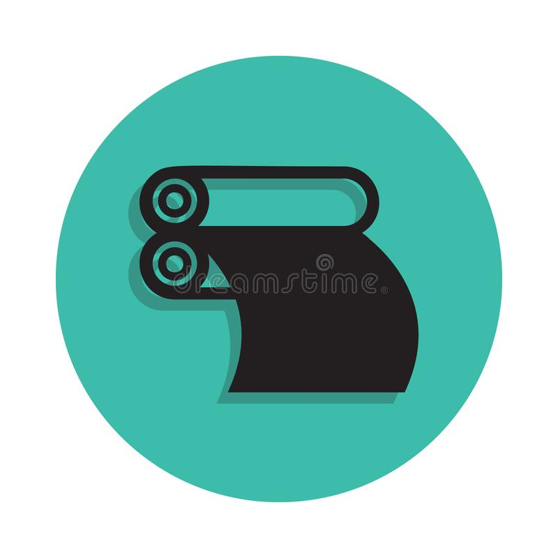 tidningsprintingsymbol Beståndsdel av printinghuset för mobilt begrepp och rengöringsdukappssymbol Gör linjen symbol med skugga i vektor illustrationer
