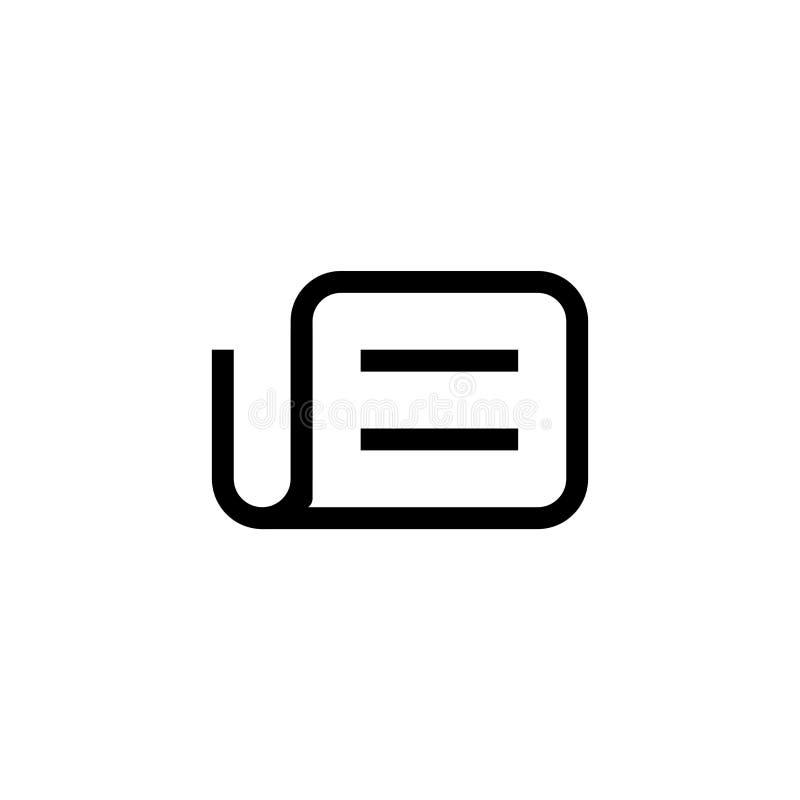 Tidningssymbol för massmediasymbol enkel ren linje för affärsledning för konst yrkesmässig design för illustration för vektor för stock illustrationer