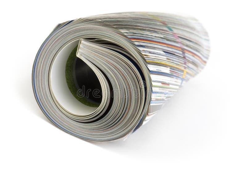 Tidskrift arkivbild