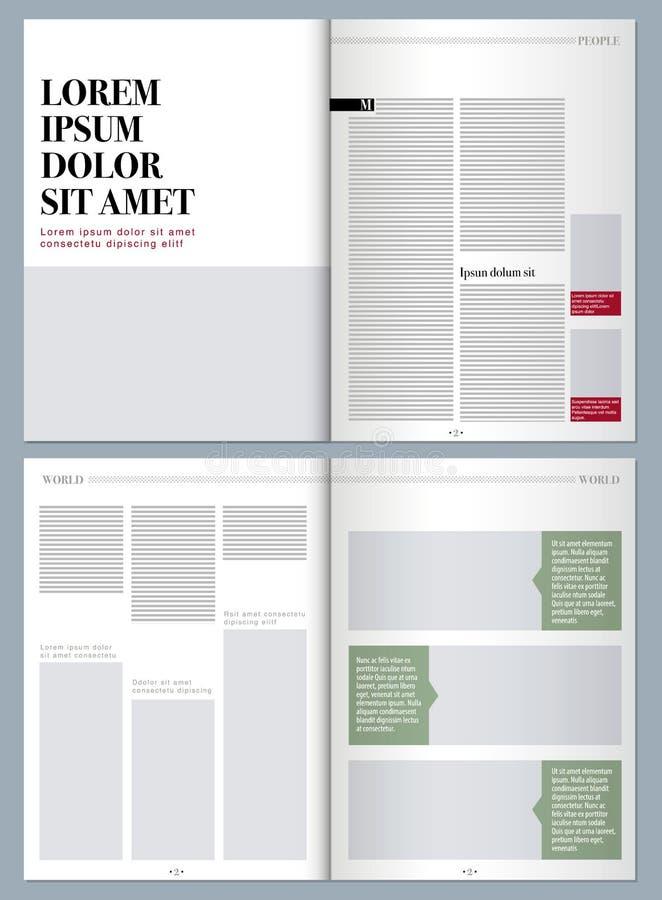 Tidskrift för modern design royaltyfri illustrationer