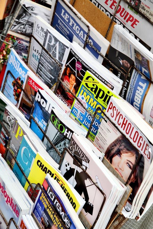 tidskrifter royaltyfria foton