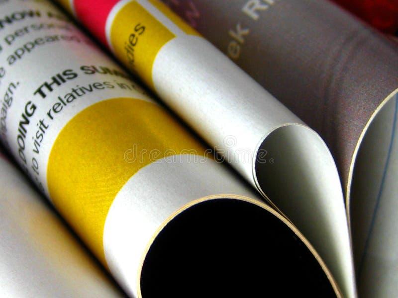 tidskrifter royaltyfria bilder