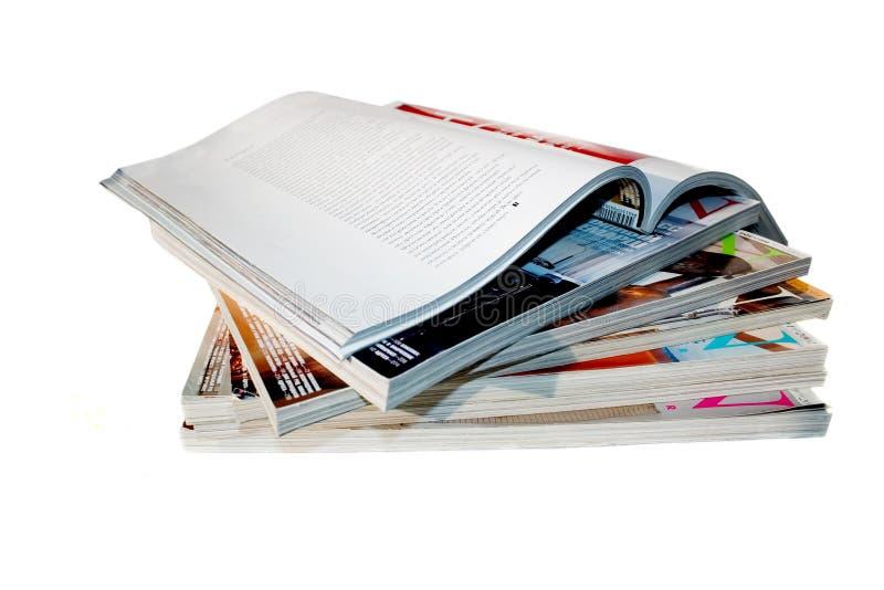 tidskrifter royaltyfri foto