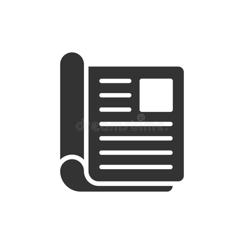 Tidskriftsidasymbol i plan stil E Broschyraffärsidé royaltyfri illustrationer