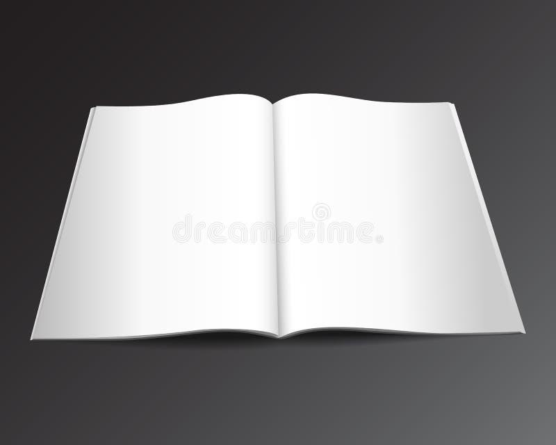 Tidskriftvektor mockup2 stock illustrationer