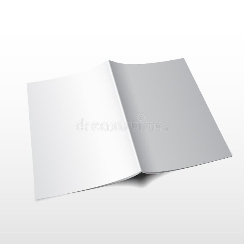 Tidskriftvektor mockup3 vektor illustrationer