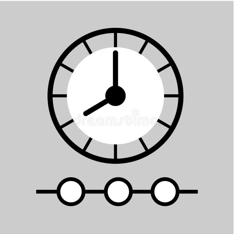 Tidslinjesymbol Tecken f?r Tid ledning royaltyfri illustrationer