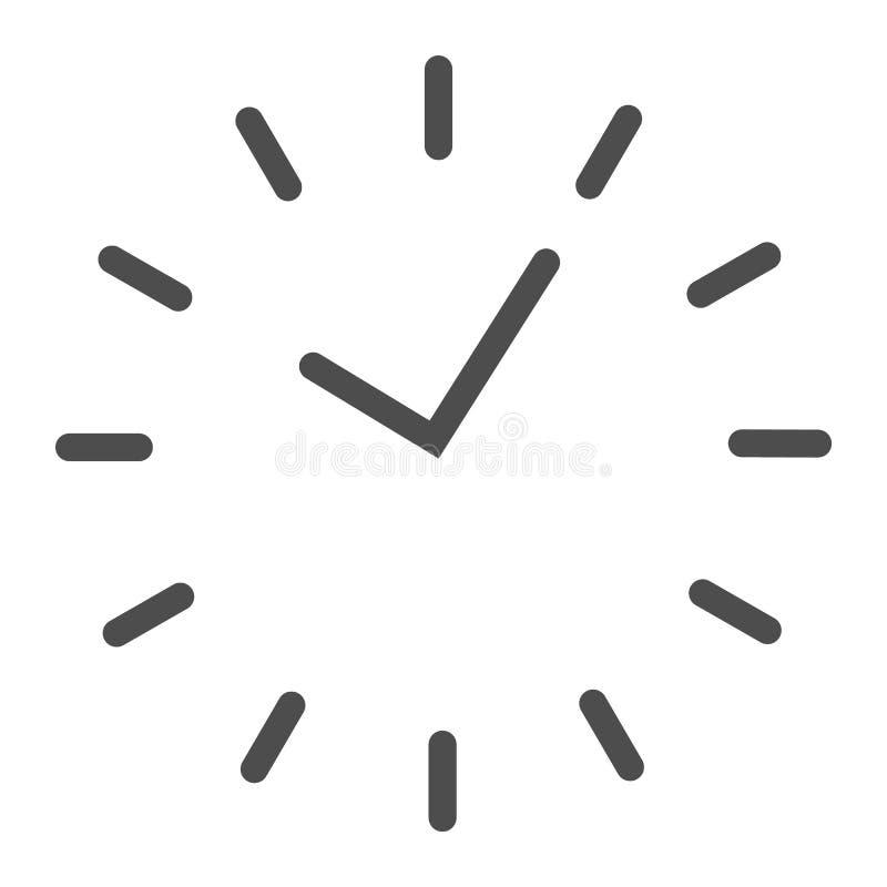 Tidslinjesymbol Uppdelning på visartavlavektorillustrationen som isoleras på vit Design för klockaöversiktsstil som planläggs för vektor illustrationer