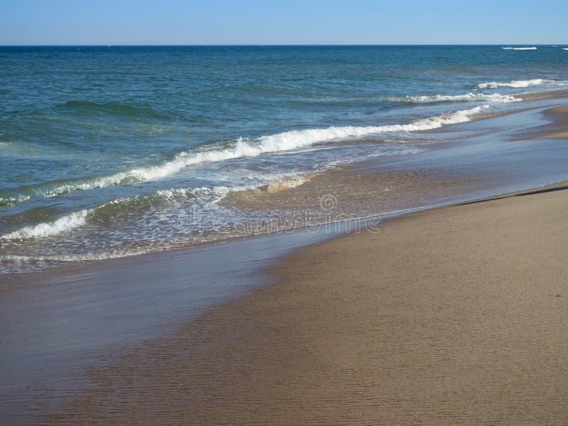 Tidvatten för strand för Cape Cod nationellt kustCoastguard royaltyfri bild