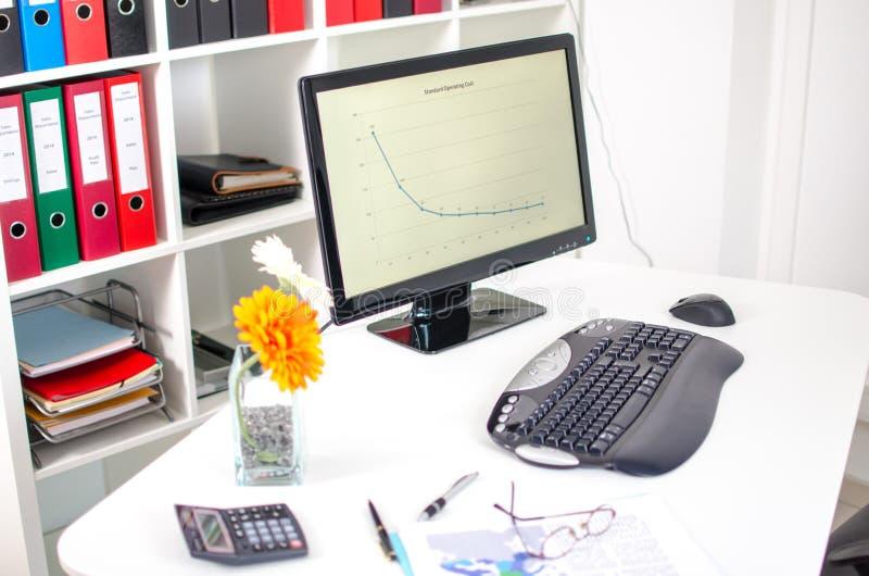 Tidy desk stock image