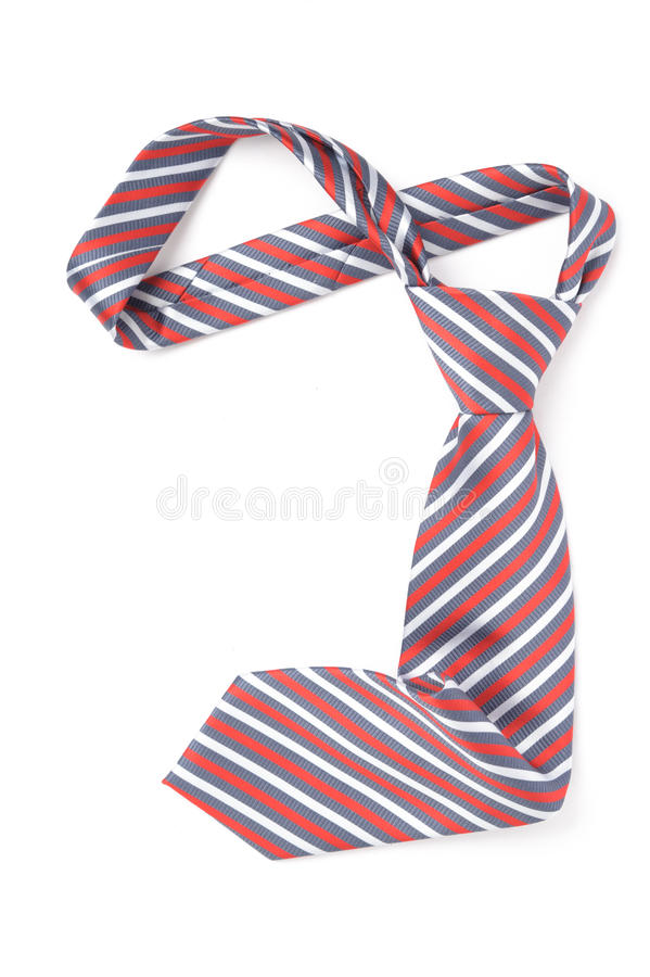 Tie. Elegant red tie isolated on white royalty free stock photography